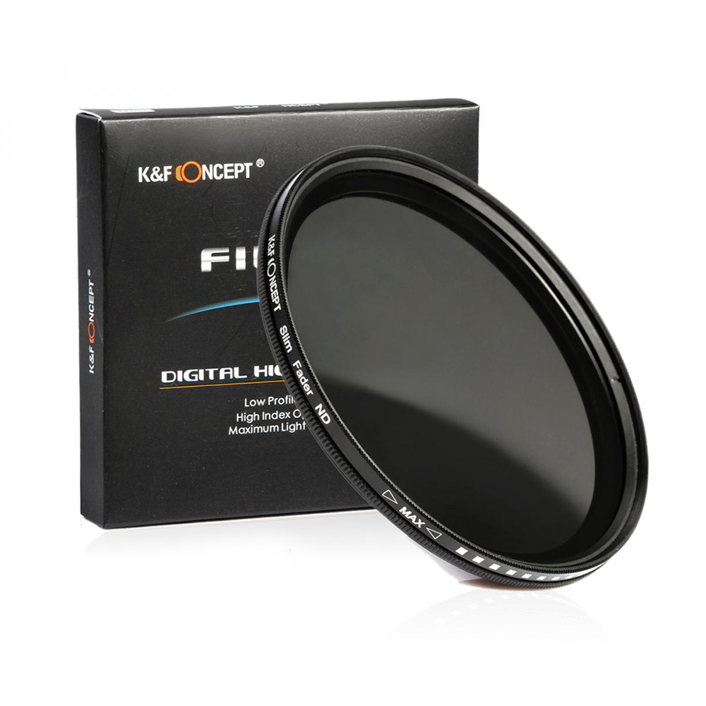 K&F CONCEPT 55mm ND2-400 Variable Neutral Density ND Filter